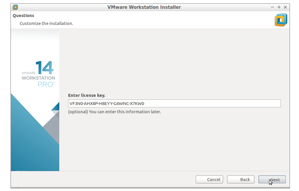 vmware workstation pro crack key